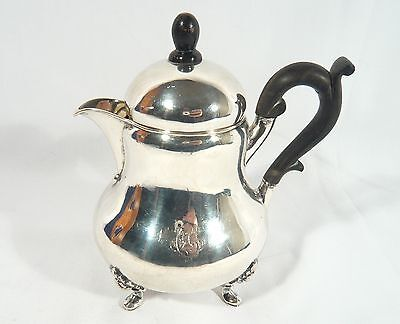 Antique Hanau Germany Solid Silver HOT WATER Chocolate Tea Coffee POT 1854