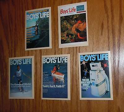 Lot Of 5 Boy Scouts Of America Boys Life Magazine Covers Collectible Cards New