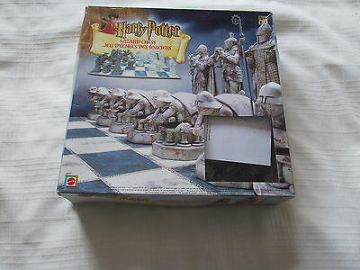 2002 HARRY POTTER WIZARD CHESS board game MATTEL 100% COMPLETE