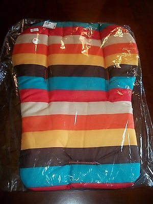 Nwt Pick Your Plum Baby Child Stroller Pad Liner Cushion Striped Car Seat New
