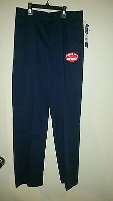 Boy's Youth Navy Classic Fit School Uniform Flat Front Pants Size 14 GEORGE