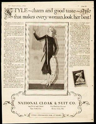1925 Women's Fashion ad by National Cloak Co.