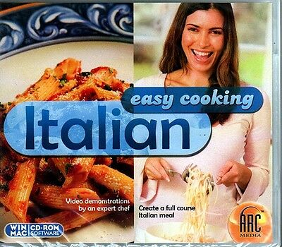 Easy Cooking: Italian CD-ROM Windows - NEW Sealed Jewel Case