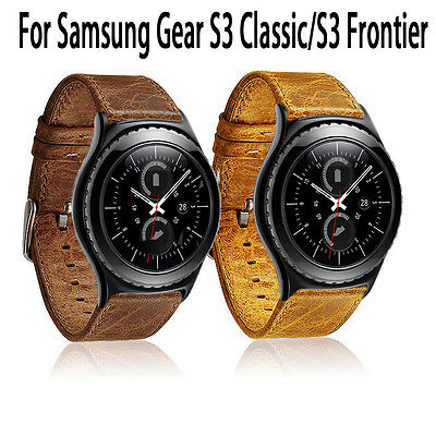 Retro Genuine Leather Watch Strap Band For Samsung Gear S3 Classic/Frontier UK
