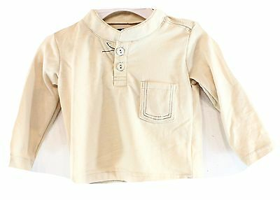 Sovereign Code NEW Beige Baby Boy's Size 3 Months Solid Henley Shirt DEAL