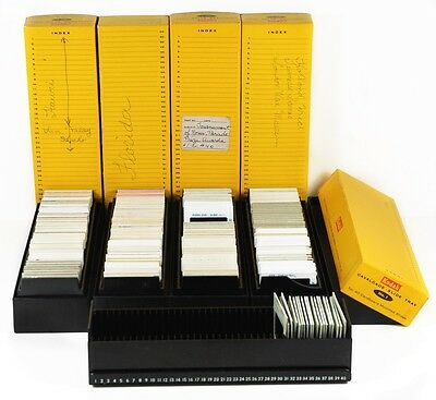 Lot of Slides of Florida, London, Tournament of Roses, 5 boxes, trays - Vintage