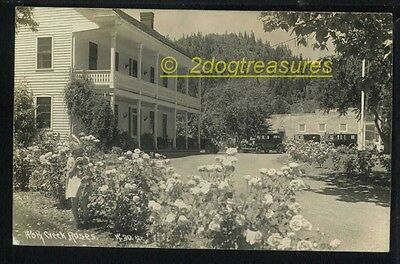 Rppc Young Girl With Feather Headdress Smells Roses At Wolf Creek Or Oregon Old