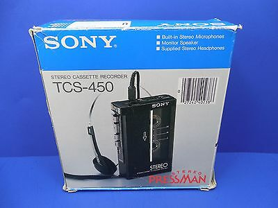 Sony Walkman Stereo Cassette Player / Recorder TCS-450 With Case