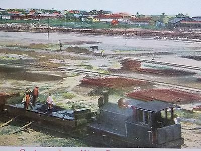 Postcard MEXICO - COATZACOALCOS - Train workers in front of Panorama