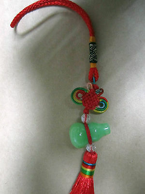 1pc Amulet fung shui Calabash Gourd hanging ornament Charm Car/bag charm us le9