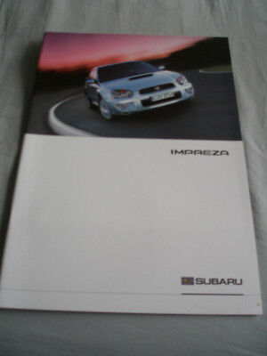 Subaru Impreza range brochure c2003 German text