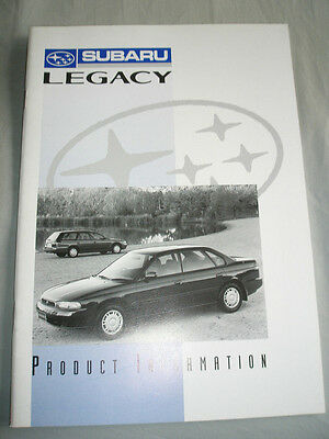 Subaru Legacy Product Information brochure May 1994 New Zealand market
