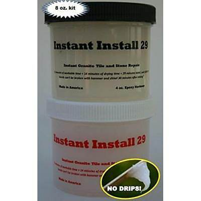 Instant Install 29 ~ 8 oz. knife grade epoxy Stone Repair or Counter top Seam
