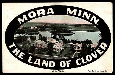 The Land Of Clover Mora Mn Handcolored Unused Postcard By Mora Drug Co