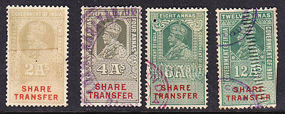India 1937 - Geo V1  Share Transfer  Issues - Used