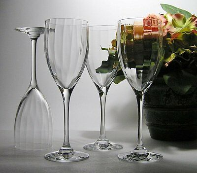 4 x Signed ORREFORS * LAURA or PLAY of LINES * Crystal SHERRY Glasses ~ LABELS