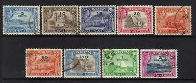 Aden 1951 Definitives 9 Used Values Cat £9+