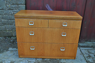 vintage retro teak william lawrence chest of drawers shabby chic refurb