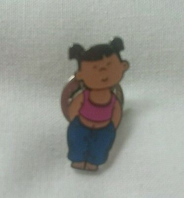 Jeans for Genes Day pin badge