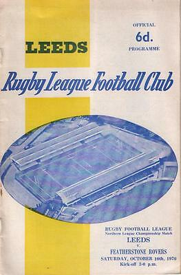 LEEDS v FEATHERSTONE ROVERS       Championship    10.10.1970