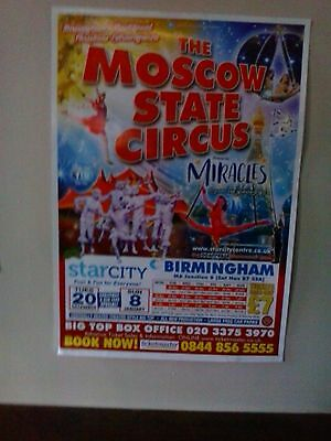 2016 The Moscow State Circus poster for December 2016 Starcity Birmingham