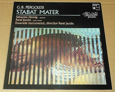 G.B. PERGOLESI : Stabat Mater - Henning/Jacobs/Concerto Vocale 1983 HM French LP