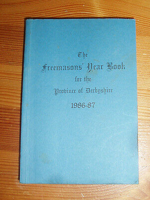 Freemason Book Provincial Grand Lodge of DERBYSHIRE Year Book 1986-87