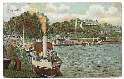 [1199] Middlesex Colored Postcard Shepperton