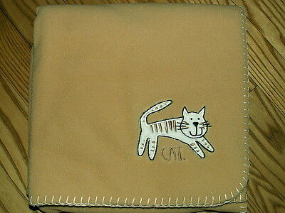 Cat Pet Throw/Blanket 4 ft. Polar Fleece Embroidered
