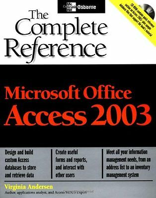 Microsoft Office Access 2003 The Complete Reference Virginia Anderson Anglais
