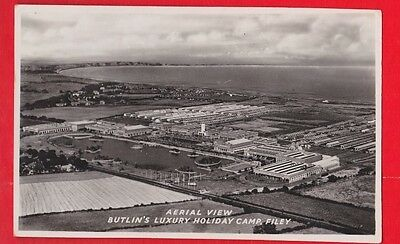 Butlin's holiday camp, Filey, Aerial view, Postcard..
