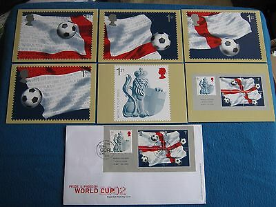 """"""" World   Cup   Football """"  First  Day  Mini - Sheet  Cover  &  Phq  Cards  2002"""