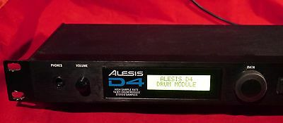 Alesis D4 16 Bit Drum Module with Original PSU & New Upgraded LCD Screen
