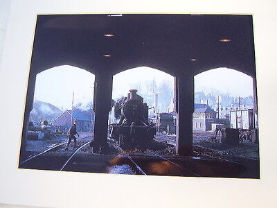 Yeovil Town Loco Railway Shed (End Of Era 1965/66) Old Mounted Print
