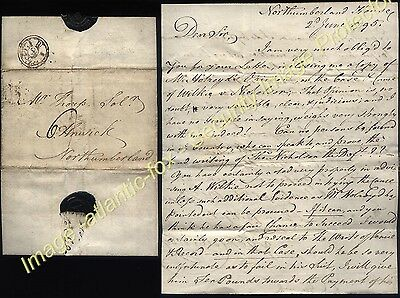1795 NORTHUMBERLAND HOUSE London letter by Henry Collingwood Selby, Dukes Agent