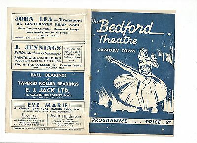 Bedford Theatre Camden Town Programme from 1945 'Yodels & Yells of 1945''