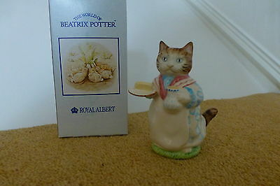 Mrs. RIBBY ~ CAT FIGURE ~ BEATRIX POTTER  ANIMAL ROYAL ALBERT  6a  NEW BOXED