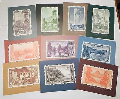 10 USPS ISSUED FARLEY NATIONAL PARK ISSUE FRAMEABLE 8.5x11 LITHO STAMPRINTS