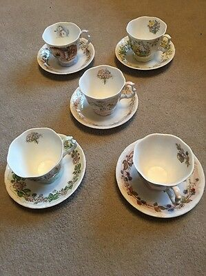 royal doulton brambly hedge Tea Cups And Saucers X5