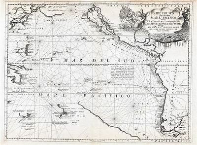 1691 Coronelli Map of the Pacific Ocean w/ California as an Island and Speculati