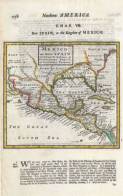 1701 Moll Map of Florida, Mexico and the Gulf Coast
