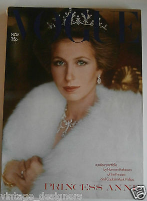 Vogue Princess Anne by Parkinson Vintage Magazine November 1973 RARE Royalty