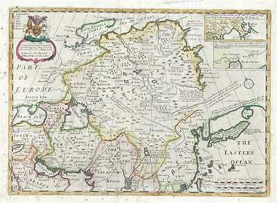 1712 Wells Map of China and Tartary (w/ Siberia)