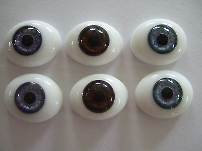 Glass eyes for/Doll old or modern - Reborning - 22 mm- 4 colours
