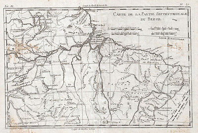 1780 Raynal and Bonne Map of Northern Brazil