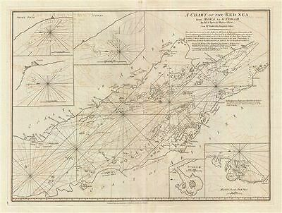 1794 Laurie & Whittle Nautical Map of the Red Sea from Moka to Geddah (Mecca