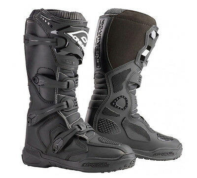 Oneal Element IV Motocross Stiefel schwarz MX Quad Enduro Boots Gr. 42 / 9
