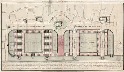 1800 George Dance Plan for the improvement of the Legal Quays, City of London