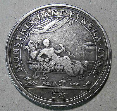 Silver medallion - Birth of Prince James 1688 - Eimer#294 - 17th century 30mm