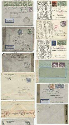 Sweden - Lot Of Censored Ww2 Covers / Cards H328